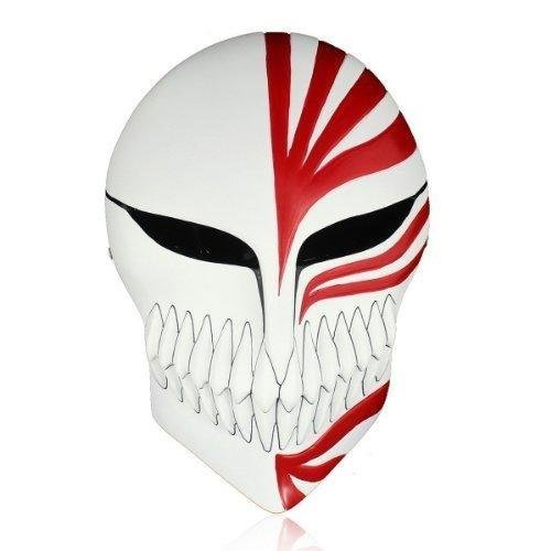 Melody Venetian Mardi Gras Masquerade Bleach Ichigo Kurosaki Full Hollow Halloween Cosplay Movie theme mask original made of quality resin Red by Melo party favor (Bleach Ichigo Full Hollow Mask)