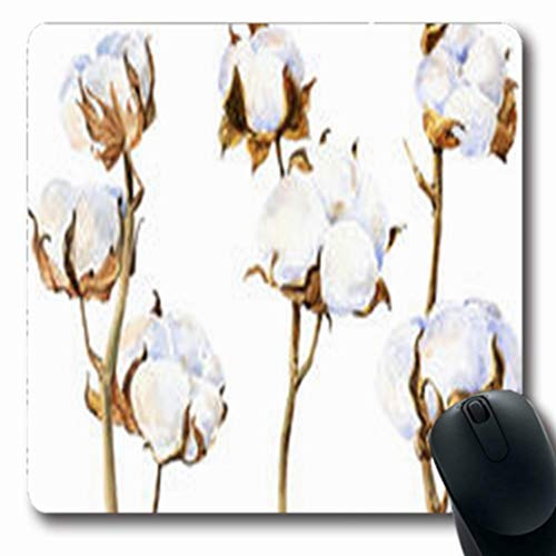 ArtsDecor Mousepads Drawn Plant Nature Watercolor Floral Vintage Twig Bouquet Twigs Flowers Botanical White Agriculture Oblong Shape 7.9 x 9.5 Inches Oblong Gaming Mouse Pad Non-Slip Mouse Mat