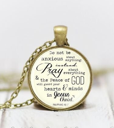Medium Pray Pendant Scripture Pendant Pray Necklace Christian Jewelry Christian Necklace Inpirational Gift