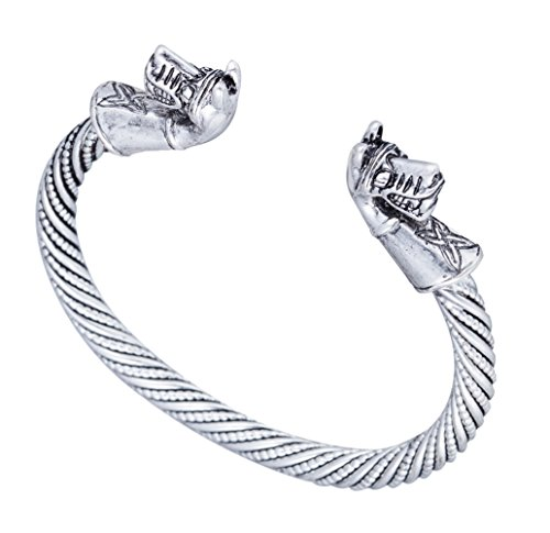 Ancient Warrior Horse Head with Celtic Knot Cuff Animal Bracelet Jewelry for Men/Women (antique (Celtic Warrior Jewellery)