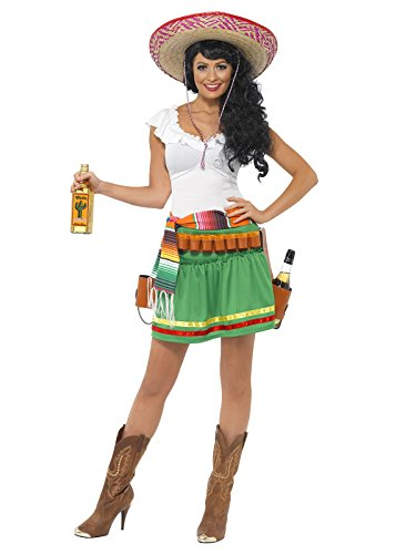 [KULTFAKTOR GmbH Big Girls' Tequila Hooter Costumesmall (UK 8-10) Green] (Hooters Costume Uk)
