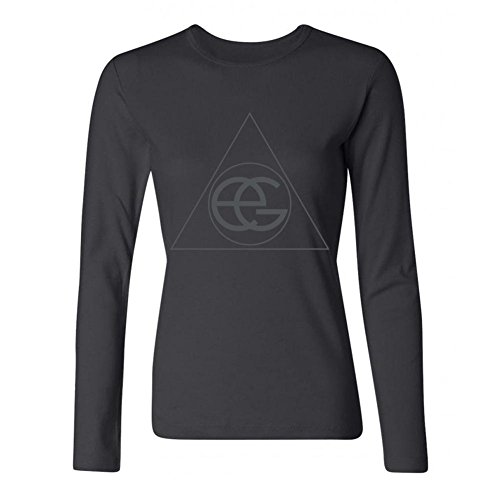 LSLEEVE Women's British Creative Singer Ellie Goulding Long Sleeve T-shirt Black L