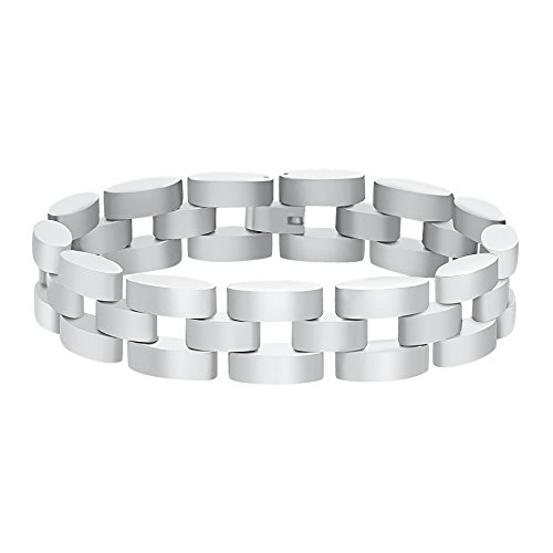 STEEL EVOLUTION Panther Link Bracelet for Men in Stainless Steel ()