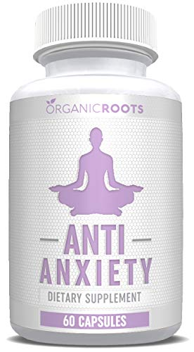 Anti Anxiety Supplements - Stress Support for Anxiety Relief - Increase Serotonin Without Feeling Tired - Improves Mental Clarity, Focus, Memory - 60 Capsules