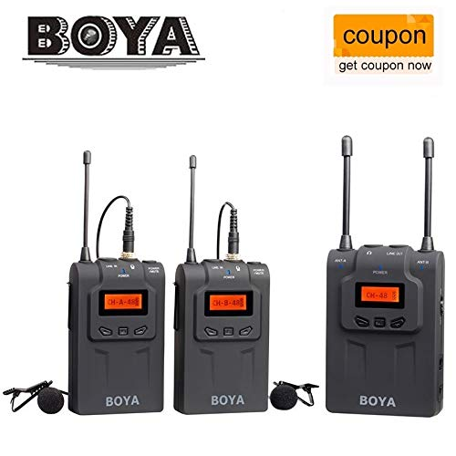 HATCHMATIC BOYA BY-WM6 / BY-WM5 / BY-WM8 UHF Wireless Microphone System Omni-directional Lavalier Microphone for ENG EFP DV DSLR: BY WM6