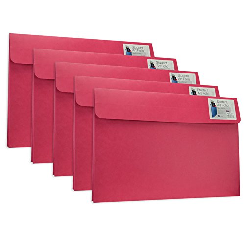 Star Products Student Art Folio Medium Assorted Colors 5 Pack
