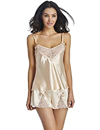Satin Cami Set Women's Tulle Camisole Shorts Sets
