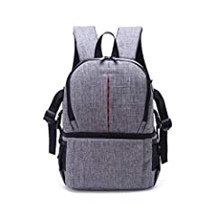 Product Description:Backpack size: length 27cm* width 16cm* height 36cmWeight: 1.3 Pounds (0.6 kg)Product Features: 1.The plug-in camera bulkhead can be constructed as a number of small spacers, each of which can accommodate a standard...
