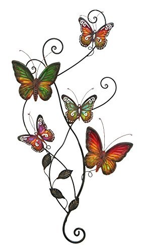 Metal Wall Decor Butterfly Sculpture 29x15