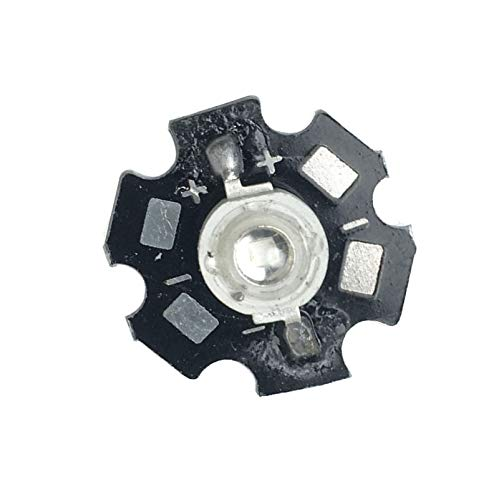 led world 3W 365nm UV LED Ultraviolet LED Chip Light High Power LED Bead with 20mm Base for DIY