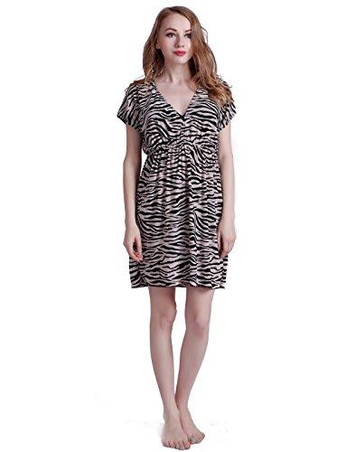 Zebra Print Sleeveless Dress - 7