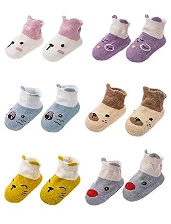 Adorel Calcetines Antideslizantes para Bebé paquete de 6: Amazon.es: Ropa y accesorios