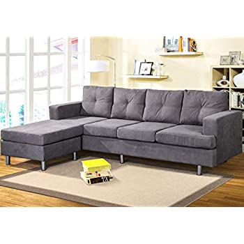 Amazon.com: BEIZ TRADING Sectional Sofa Set with Chaise ...