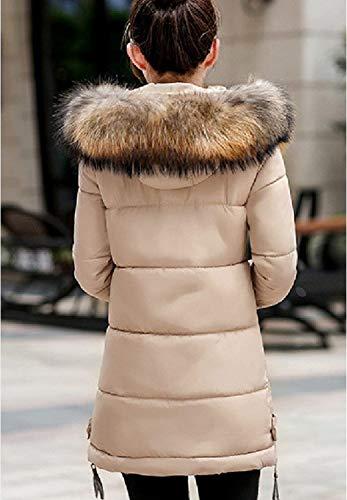 Grande avec Fourrure Warm Longue Doudoune Taille Parka Manteau Hiver Femme Capuchon EWq4gB
