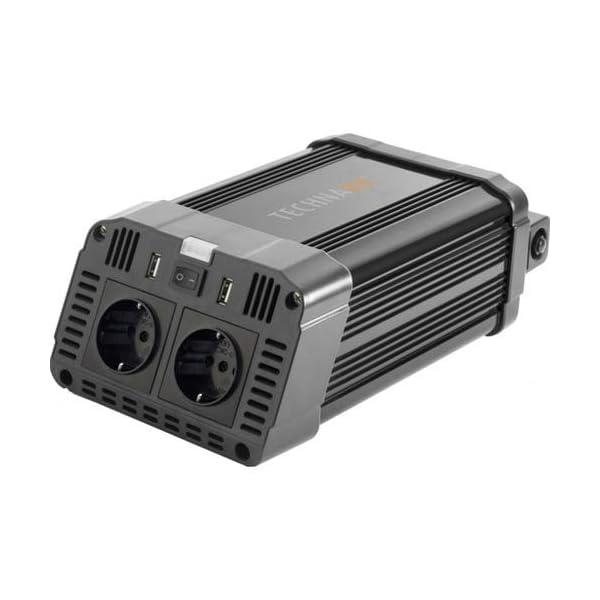 41gVOhIW37L Technaxx KFZ Wechselrichter mit LC-Display 12V auf 230V - Auto Inverter mit 2X Schuko-Stecker und 2X USB-Port - Power…