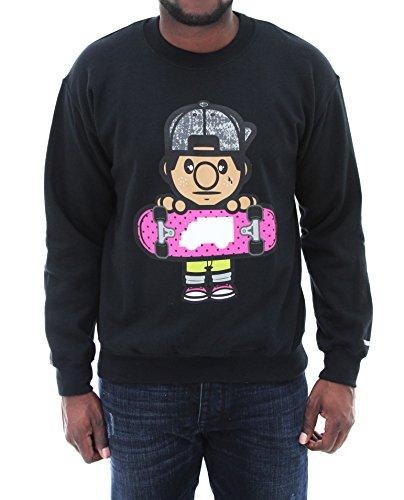 Trukfit Men's Lil Tommy Fleece Crew Neck Sweatshirt-Black-XL (Lil Wayne Trukfit Hoodie)