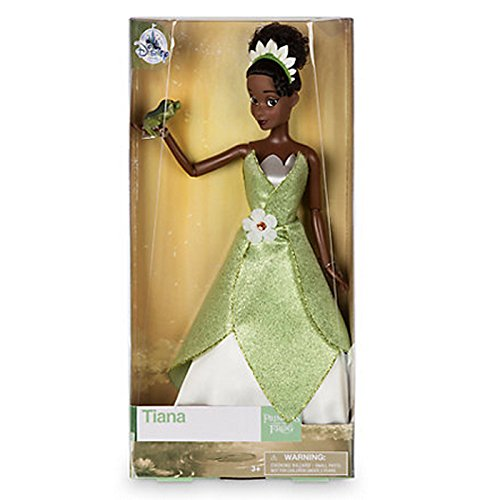 "DISNEY STORE 12"" TIANA CLASSIC DOLL WITH NAVEEN"