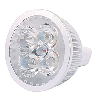 eDealMax DC 12V 4W MR16 4 LED ultra brillante COB bulbo del proyector de Downlight ahorro