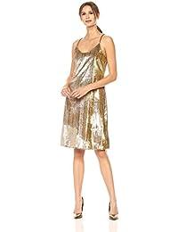 Women's Gold Lame Slip Dress
