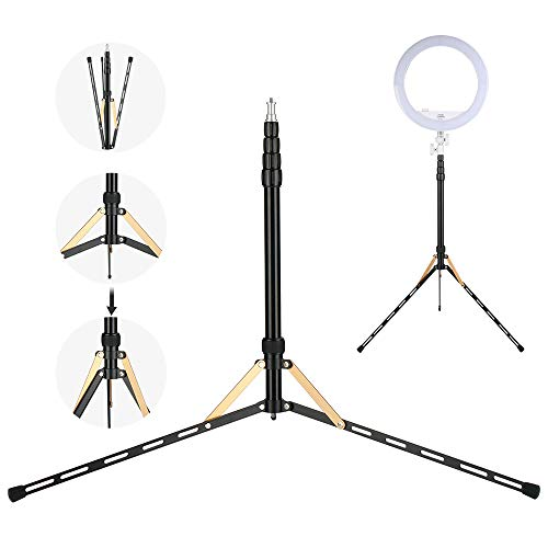 6.9ft Video Tripod Light Stands Super Lightweight Compact for Studio Kits, Lights, Micro SLR, Photography, Backgrounds, Filming Product Portrait Shooting Lighting Stand Aluminum Folded Height 14.96''