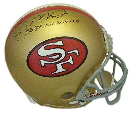 (Joe Montana Autographed San Francisco 49ers Proline Helmet SB Mvp's)