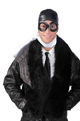 Biggles Costume (Aviator Kit Costume for Pilot Air Crew Biggles Fancy Dress Outfit Kit Set by Partypackage Ltd)
