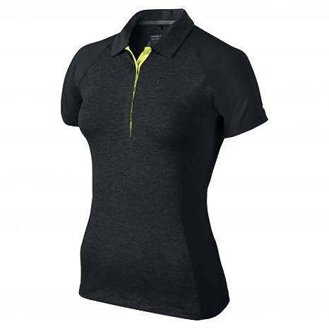 Nike Luxe Raglan Polo mujer Negro/Amarillo Neón: Amazon.es ...