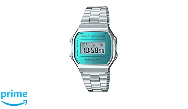 Amazon.com: Casio A168WEM-2 Mens Youth Collection Mirror Dial Alarm ...
