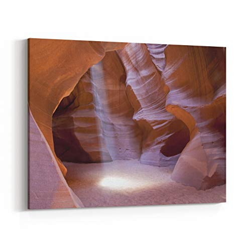 (Rosenberry Rooms Canvas Wall Art Prints - Light Beam in Antelope Canyon in Arizona, USA (48 x 32 inches) )