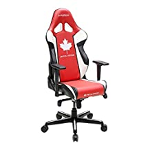 DXRacer Racing Series OH/RH49/RWN CANADA Edition Racing Bucket Seat Office Chair Gaming Chair Ergonomic Computer Chair Desk Chair Executive Chair With Pillows (Black/Red/White)