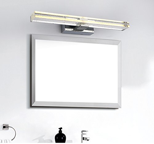 Modern Simple Luxury LED Crystal Mirror Front Light Gold Warm Light 50cm (8 Watts) 70cm (12 Watts) ( Size : 50cm (8 w) ) by SHI XIANG SHOP (Image #3)