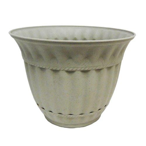 Misco 1859-031 Milano Planter, 18-Inch, Stone