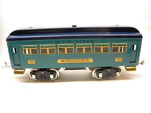 Trains Mth Blue - MTH Tinplate Traditions Standard Gauge 10-5013#339 2 Tone Blue Pullman Car