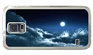 Hipster silicone Samsung Galaxy S5 Case sky moon night PC Transparent for Samsung S5