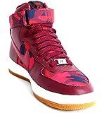 Nike Womens AF1 Ultra Force Mid Print Women Casual Shoes Size 10.5 Deep Garnet