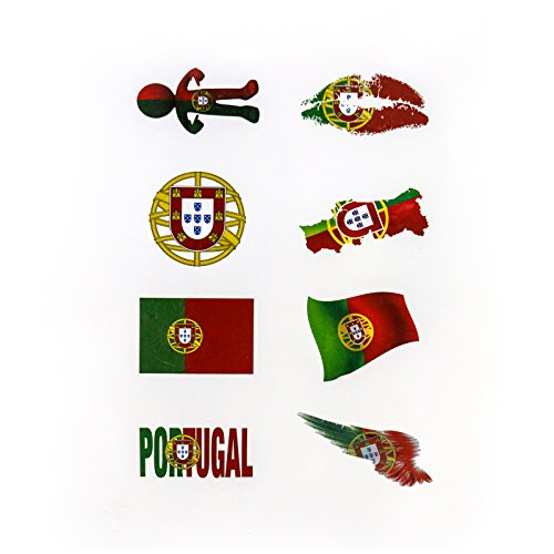 Flag Stickers,American/Canada/France/Germany/UK/Spain/Australia Flag Stickers with High Environmental Protection Materials for Personalize Laptops,Cars,Bikes,Bicycles (Tattoo Sticker, Portuguese)