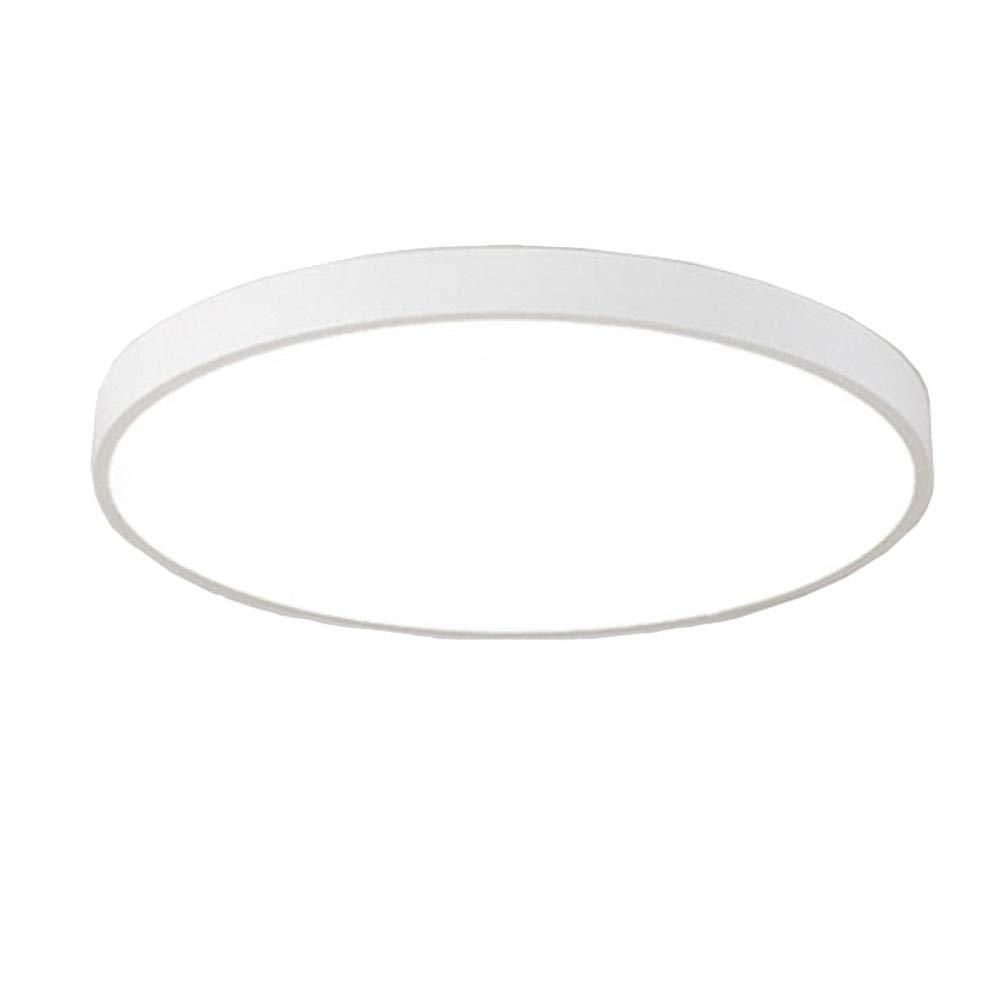 OOFAY Lights Moderne Ultraschlanke LED-Deckenleuchten, Minimalistische weiße Schwarze Schwarze Schwarze Metalldekoration Deckenlampe Mit Spül Halterung Für Schlafzimmer Esszimmer 220V Max. 48W,Weiß(Weißlight),50Cm 343727