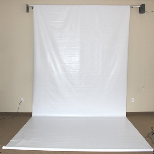 CowboyStudio 6 x 9 Feet Seamless White Vinyl Background (VL-W9) by CowboyStudio