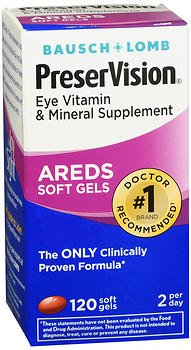 PreserVision Eye Vitamin & Mineral Supplement - 120 Gelcaps, Pack of 6