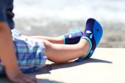 Kids Water Shoes - comfortable, flexible for pool, beach, splash pad, sports (S, Blue Whale)