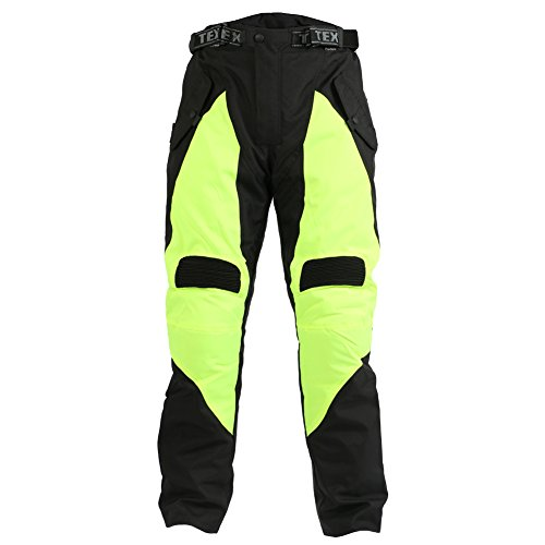 Texpeed - Motorradhose mit Protektoren - High Visibility - Wasserdicht - W32 L34