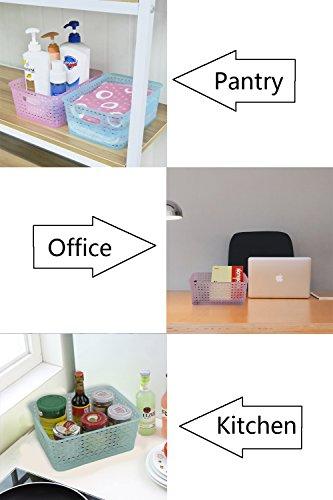 [해외]옷장 용 Ggbin 플라스틱 스토리지 주최자 바구니, 4 세트/Ggbin Plastic Storage Organizer Basket for Closets, Set of 4