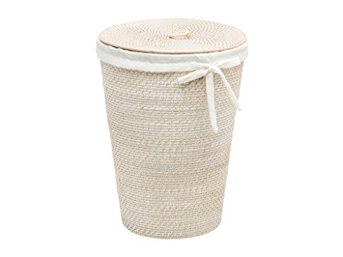 KOUBOO 1030093 Laguna Round Rattan Hamper with Liner (Rattan Hampers)