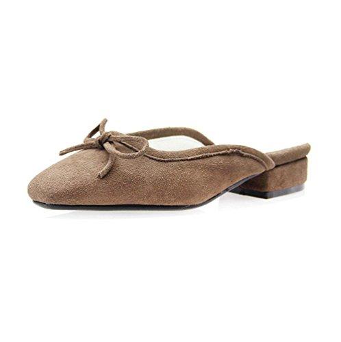 De Sra Baotou En Planas Zapatos Grey Semi Sandalias Los Y Talones Verano Europa Zapatillas Planos Mujeres Las Señoras América Remolque WWB5raSFfw