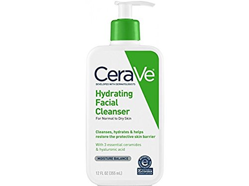 CeraVe Hydrating Facial Cleanser, Normal to Dry Skin, 12 Oun