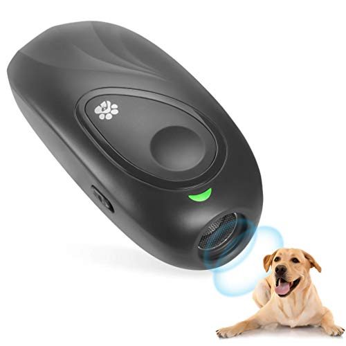 WHATOOK Ultrasonic Dog Bark Deterrent, Anti Barking Control Device, 2 in 1 Dog Training Aid Repellents with 16.4 Ft W…