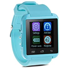 Padgene Bluetooth Smart Watch Bracelet for Samsung, Nexus, HTC, Sony and Other Android Smartphones, Blue