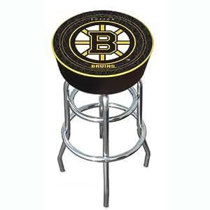 Nhl Boston Bruins Padded Bar Stool Furniture Amazon Canada