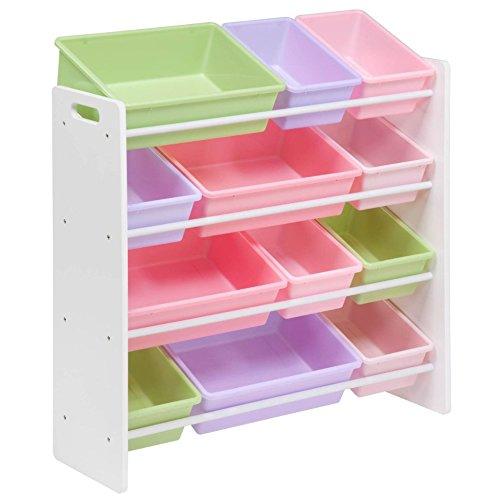 kiddyplay wooden storage bin rack pastel amazon co uk kitchen home rh amazon co uk Storage Bins with Drawers Indoor Firewood Storage Bins