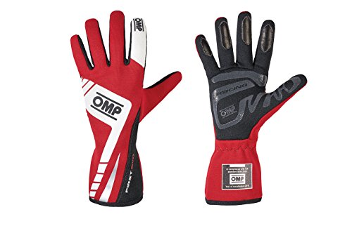 OMP IB/757E/R/L First Evo Gloves, Red, Large (MY2016)